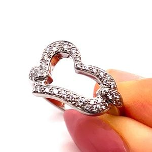 Piaget White 18k Gold Heart Diamond Ring